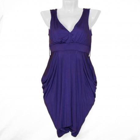 Интересное фиолетовое платье р.40