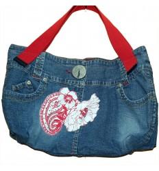 Дизайнерская джинсовая женская сумочка - Олимпиада