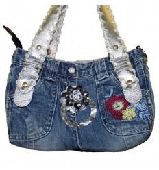 Дизайнерская джинсовая женская сумочка - Обручальное кольцо