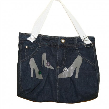 Дизайнерская джинсовая женская сумочка - Туфельки