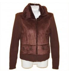 Комбинированная симпатичная курточка р.46