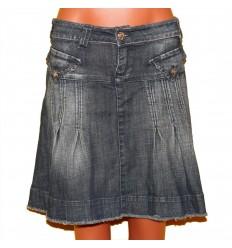 Хорошенькая кокетливая джинсовая юбочка, скрывающая некоторые недостатки р.52