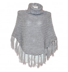 Пончо-свитер-удлиненный воротник. Удобная, теплая вещь р 40-46