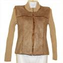 Комбинированная светлая курточка р.44