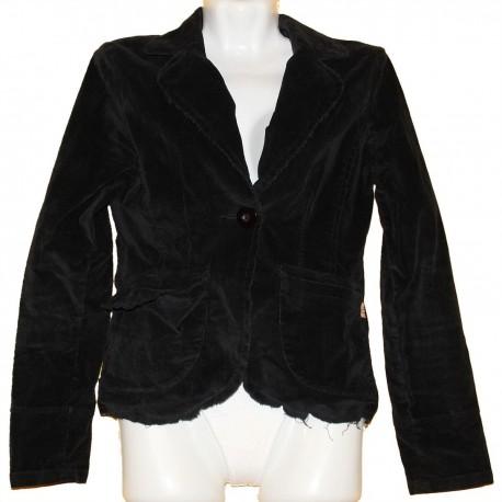 Вельветовый молодежный пиджак с аппликацией р.44