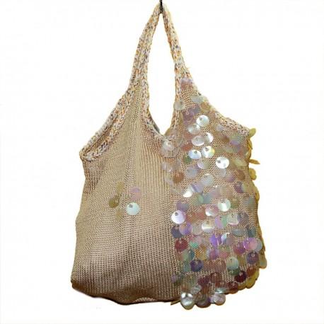 """Симпатичная светлая сумочка """"Солнечные блики"""""""