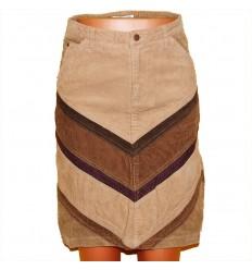 Комбинированная вельветовая юбка