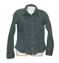 Хорошенькая облегченная джинсовая рубашка р.44-46
