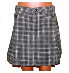 Клетчатая плотная хлопковая юбка р.48