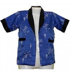Прелестная двусторонняя удлиненная домашняя куртка р.40-42