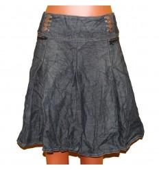 """Модная """"мятая"""" джинсовая юбка"""