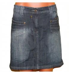 Юбка джинсовая с осветлением