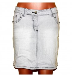 Светлая джинсовая юбочка