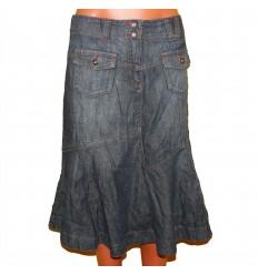 Облегченная джинсовая юбка