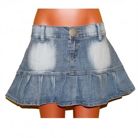 Молодежная кокетливая джинсовая юбочка