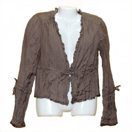 Дизайнерский хлопковый пиджак р.44-46