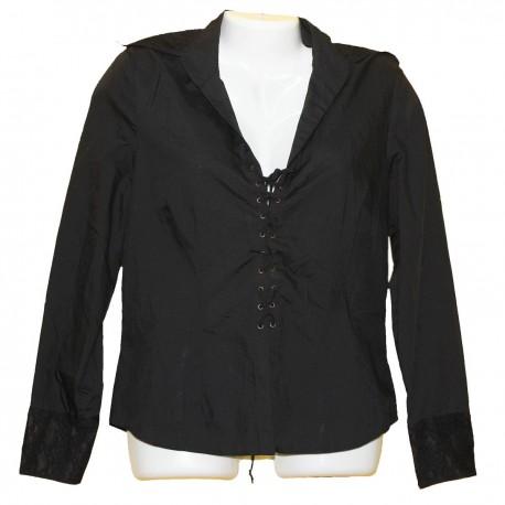 Дизайнерская блузка со шнуровкой