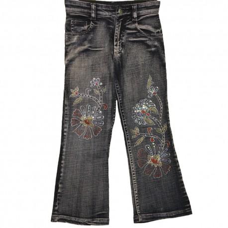 Дизайнерские детские джинсы с оригинальной вышивкой