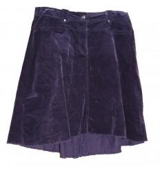 Дизайнерская фиолетовая вельветовая юбка