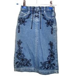 Дизайнерская детская джинсовая юбочка для маленькой модницы
