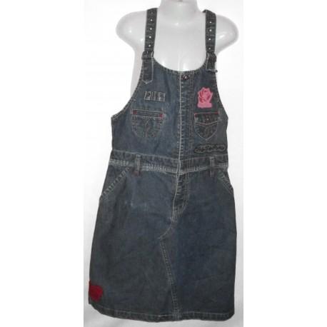 Дизайнерский джинсовый детский комбинезон с украшением