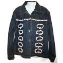 Джинсовая курточка с оригинальной отделкой