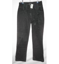 Дизайнерские джинсы с вышивкой бисером