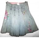 Дизайнерская джинсовая юбочка с вышивкой