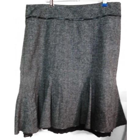 Дизайнерская серая юбка