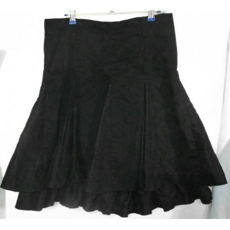 Дизайнерская хлопковая юбка с оборкой