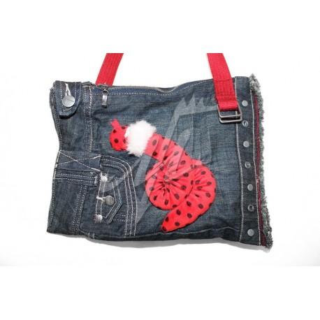 Дизайнерская джинсовая женская сумочка - Змейка