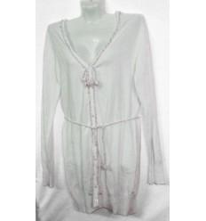 Платье с застежкой впереди