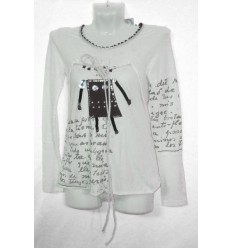 Дизайнерское детское платье-футболка