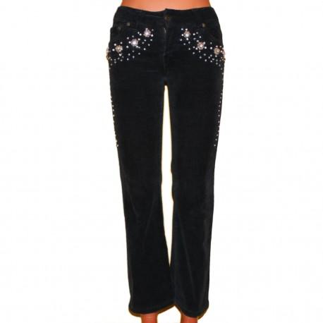 Дизайнерские красивые брюки с вышивкой