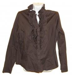 Блузка хлопчато-бумажная с рюшами
