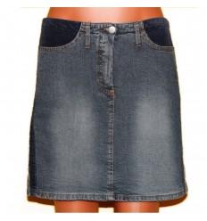 Дизайнерская джинсовая юбка с оригинальной отделкой