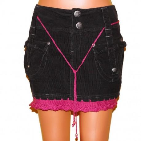 Дизайнерская вельветовая юбка