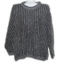Теплый свитер ручной вязки