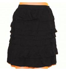 Хлопковая черная юбка