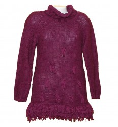 Красивое вишневое платье-туника